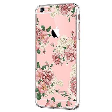 JEPER Funda iPhone 8 Carcasa Silicona Transparente Protector TPU