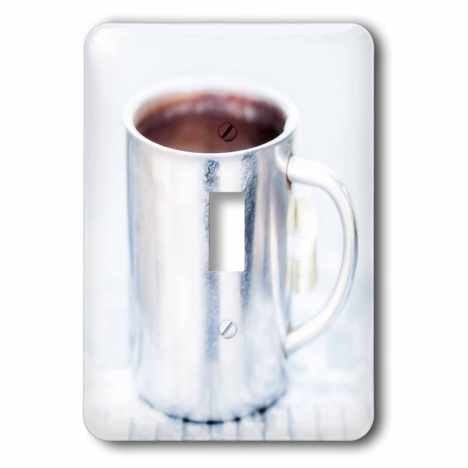 3dRose Alexis Photography - Objects - White aluminum coffee mug against the white background - Light Switch Covers - single toggle switch (lsp_272291_1)
