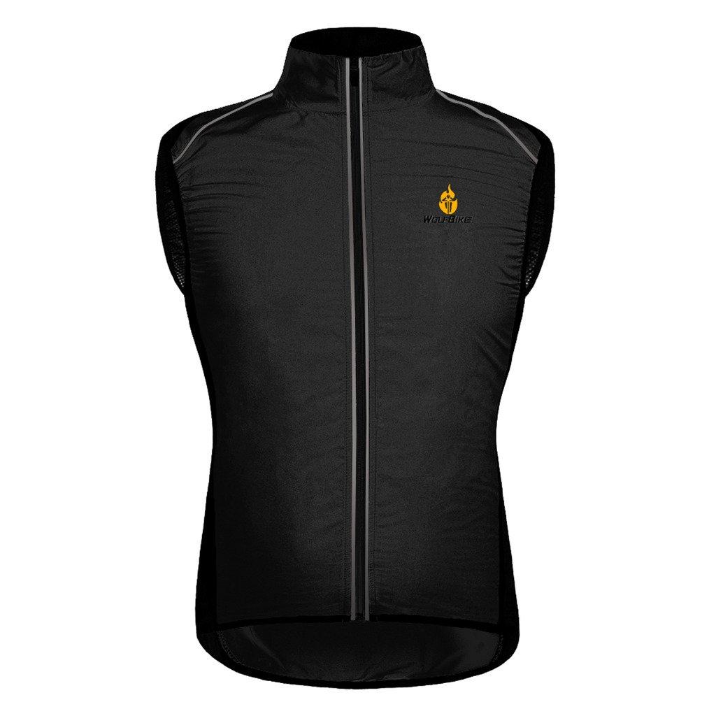 Skysper Chaleco de ciclismo para hombre Unisex Paraviento chaqueta ...