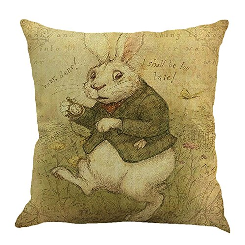 iYBUIA Linen Easter Pillow Cases Sofa Cushion Cover Sofa Bed Home Decor Pillow Case18 x18