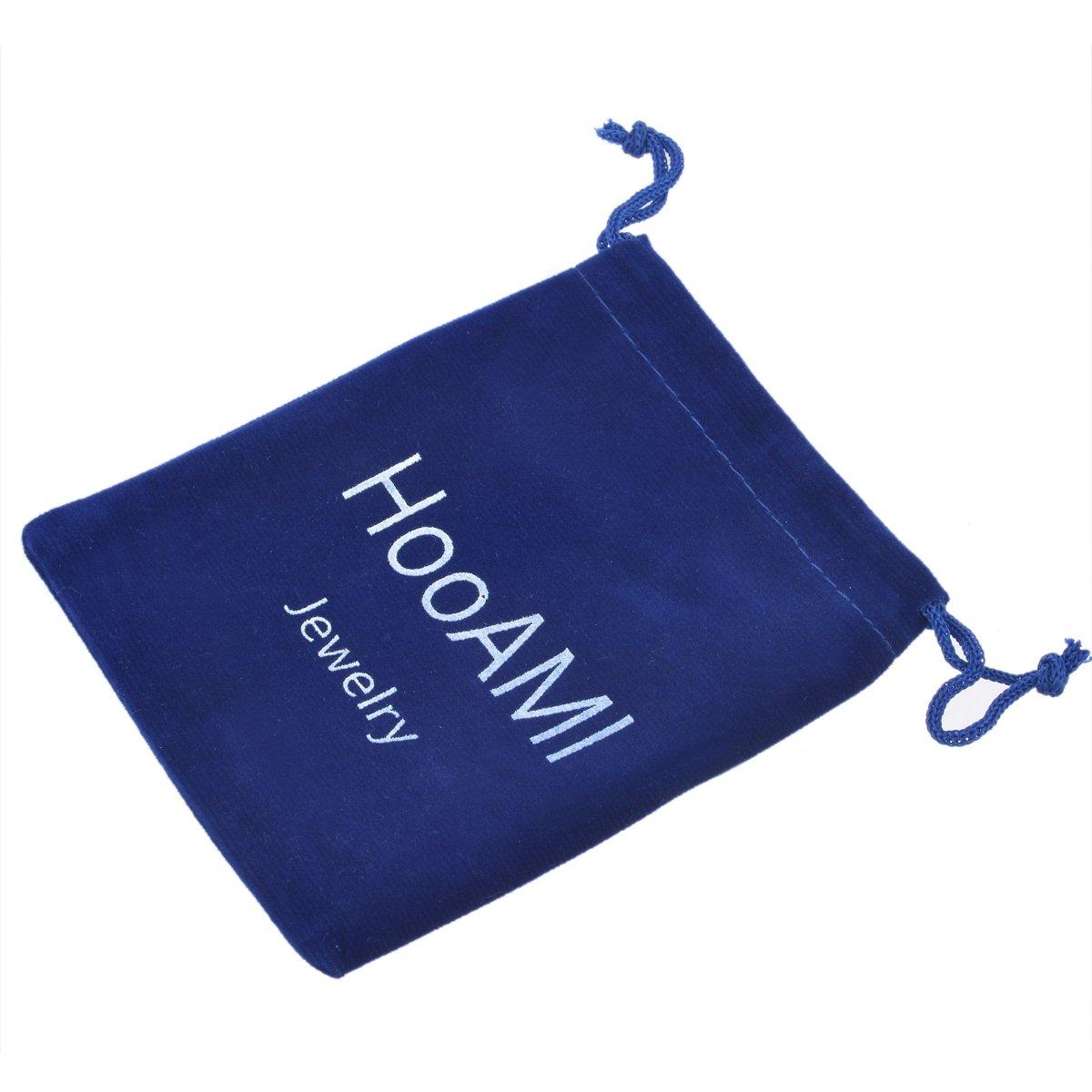 HooAMI Mens Fashion Metal Simple Necktie Tie Bar Clip 2 3/8'' Inch, Gold Plated by HooAMI (Image #4)
