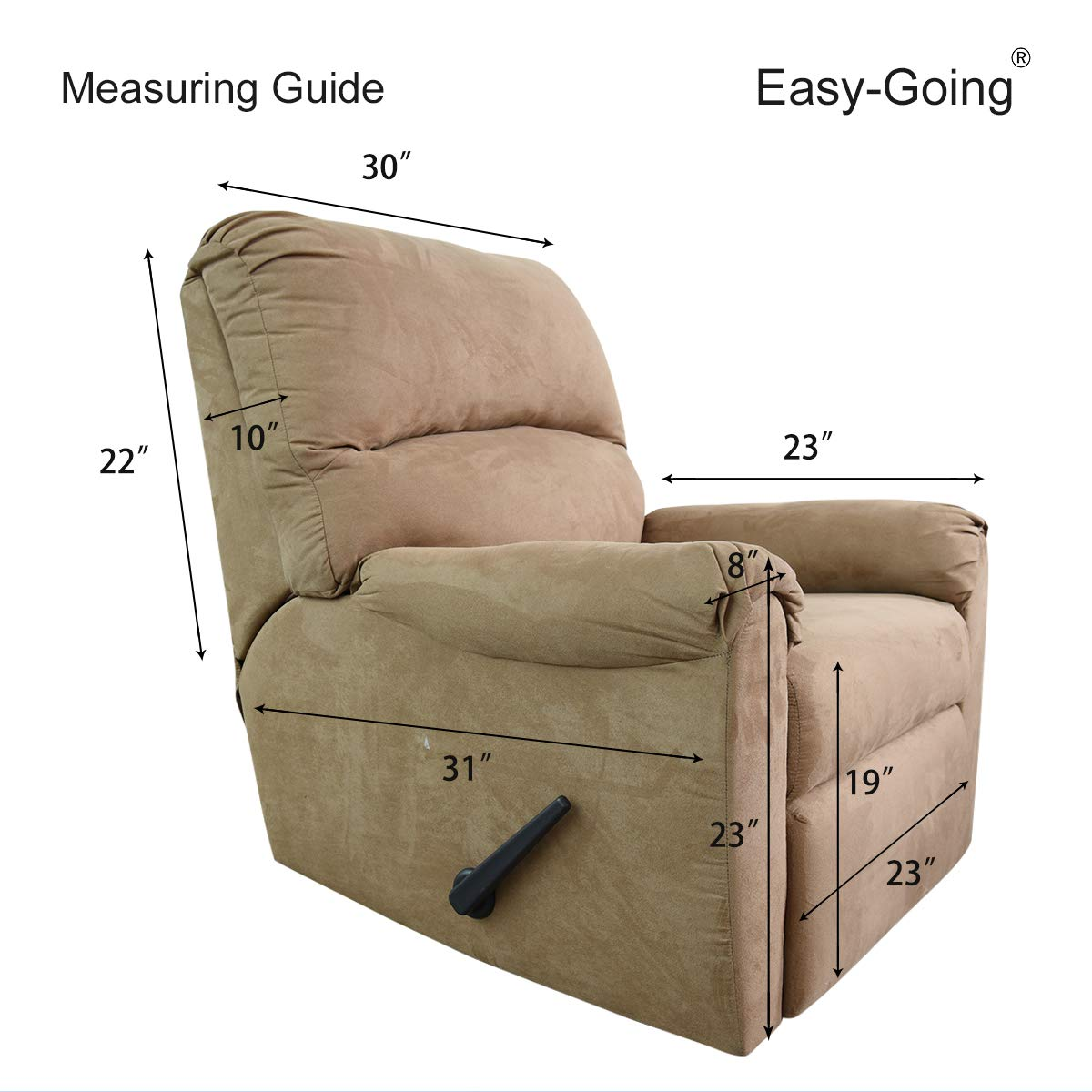 Easy Going Stretch Recliner Slipcovers Sofa Covers 4pieces