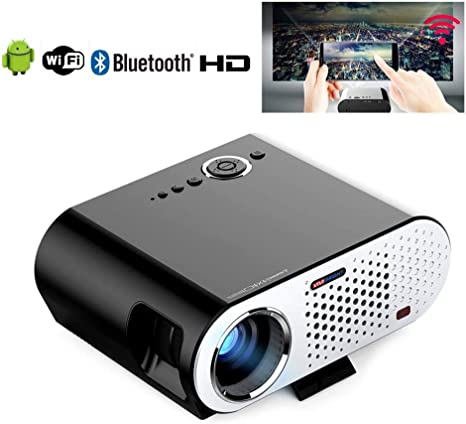 FASSTUREF Proyector portátil 3200 lúmenes Full HD 1080P WiFi ...