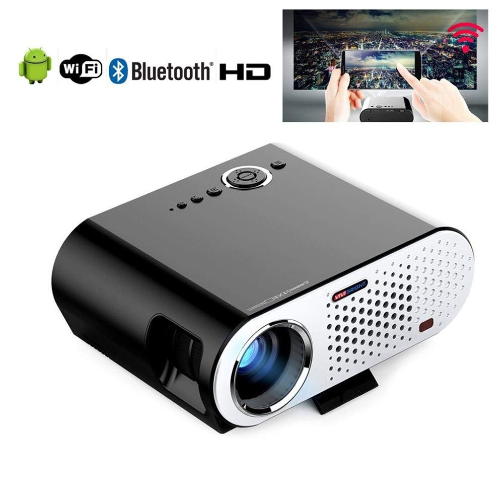 YL-light Proyector portátil 3200 lúmenes Full HD 1080P WiFi ...
