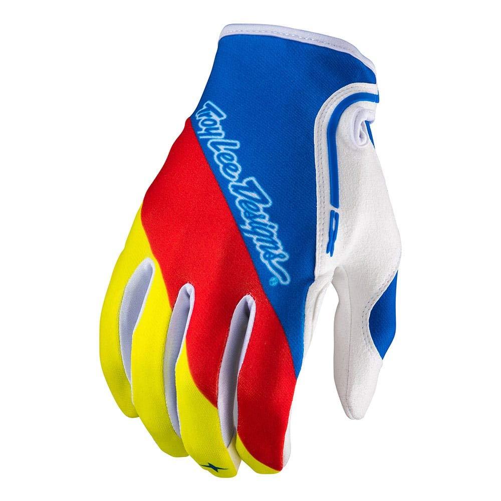 Troy Lee Designs Mens Offroad Motocross Enduro Mountain Bike XC Glove Medium, Blue//Red//Yellow