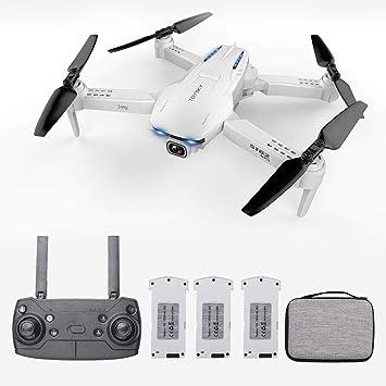 Opinión sobre Goolsky- S162 RC Drone con Cámara GPS Ajustable Gran Angular 4K 5G WiFi Foto de Gesto Vídeo MV FPV RC Quadcopter Sígueme Drone para Adultos 3 Batería