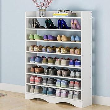 Armario de zapatos de 5 niveles Armario Organizador de almacenamiento de zapatos Unidad de estante de zapatos de madera para 10 pares de zapatos Organizador de almacenamiento de pie Blanco