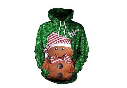 Novedad navidad Suéter de Navidad Sudadera con capucha de otoño Elk Sudadera con capucha de invierno