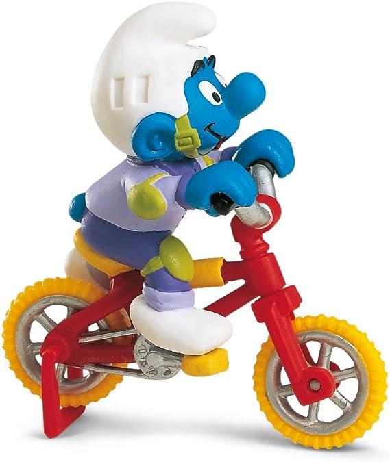 Schleich 40252 Los Pitufos - Pitufo con Bicicleta estática: Amazon ...