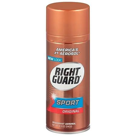 Right Guard Sport Deodorant, Aerosol, Original 8.5 oz Pack of 6