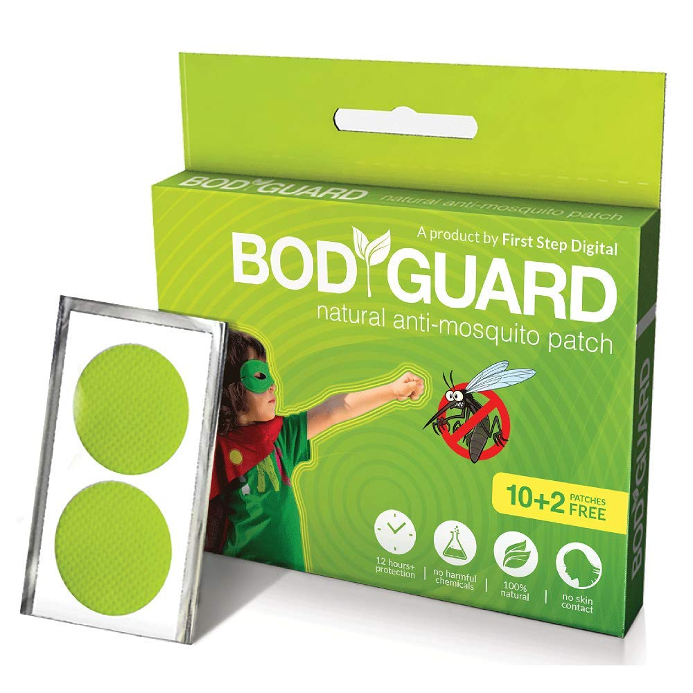 Bodyguard Premium Natural Anti Mosquito Repellent Patches - 10 + 2 Patches