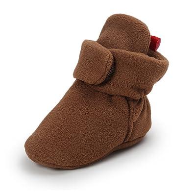 Royal Victory Baby Boys Girl Shoes Fleece Toddler Winter Booties Warm Socks Prewalker 0-18M