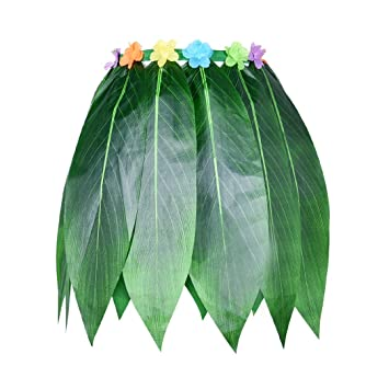 Funpa Falda de Hoja Hojas de Flores Artificiales, Falda de Hula ...