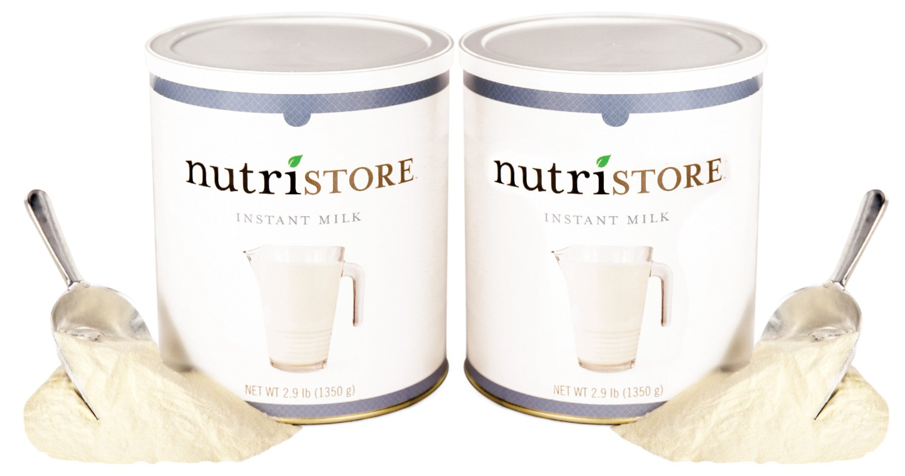 Instant Milk by Nutristore | Pack of 2 | 92 Total Ounces | Quick Preparation | Great Taste | Survival Food by Nutristore