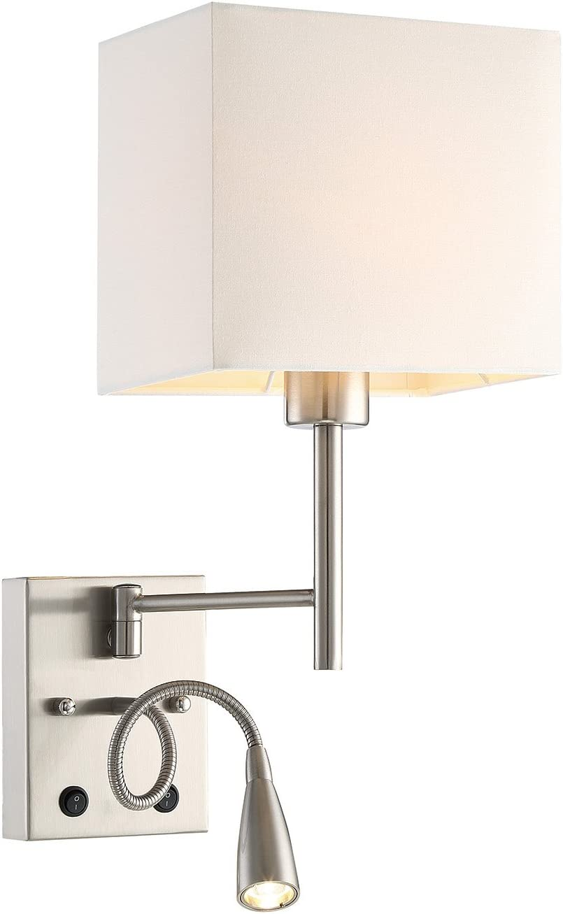 HomeFocus LED Bedside Reading Wall Lamp Light,LED Reading Swing Arm Wall  Lamp Light,Wall Sconces,Living Room Wall Lamp,Corridor Wall Lamp,5 Lights 5
