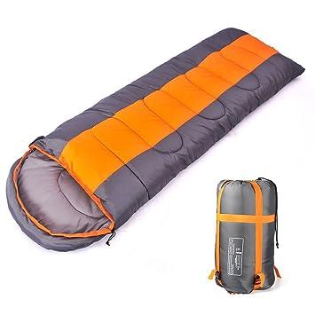 Camping saco de dormir, sobre 3 temporada saco de dormir con capucha, interior y