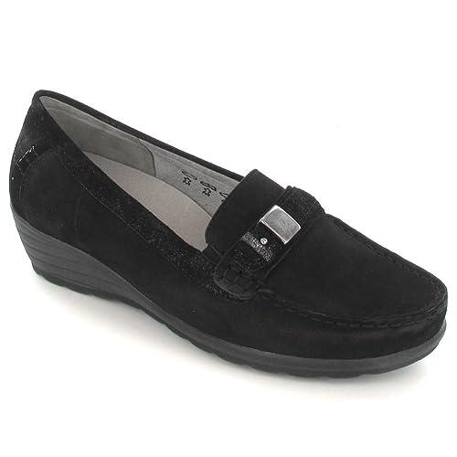 Waldläufer H536515.829001 - Mocasines para mujer Negro negro: Amazon.es: Zapatos y complementos