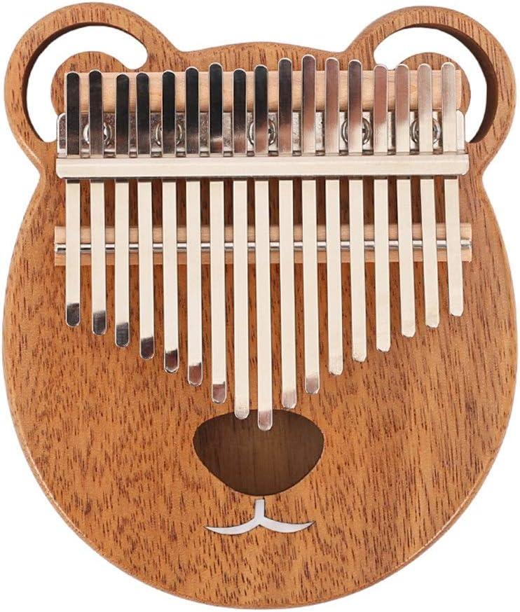 指打楽器キーボード 17キーアフリカのカリンバソリッド中空親指ピアノナチュラルメープルウッドポータブル指ピアノ子供のための7のギフトアクセサリーの最高の贈り物と (色 : Wood, サイズ : ワンサイズ)