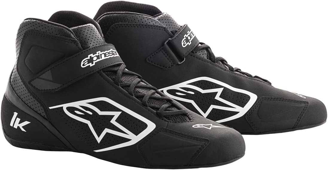 Alpinestars 2712018-12B-7 Tech 1-K Shoes Black//White Size 7