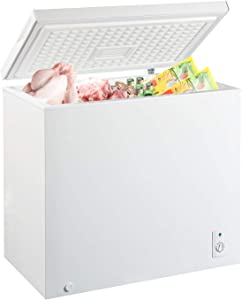 MYAL 7.0 Cubic Feet Chest Freezer with Removable Basket and Adjustable Thermostat, Top open Door Compact Freezer Store Meet Fish Vegetable for Home and Kitchen