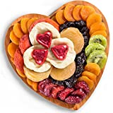 Valentine's Dried Fruit and Chocolate Hearts Tray