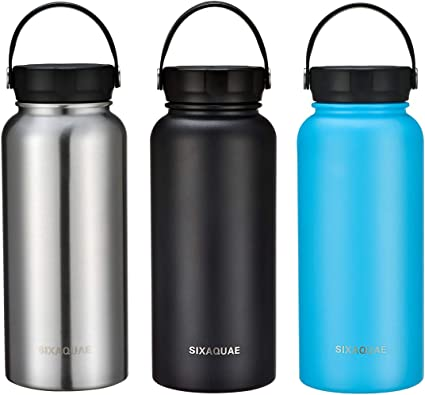 1 pc Water Bottle Wide Mouth 32oz Vacuum Insulated Stainless Steel Walled Flask