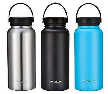 Amazon.com: SIXAQUAE Botella de agua aislada al vacío de ...