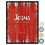 Cheap Jesus The Name Above All Names Philippians 2:9 Bible Verse Scripture Quote Canvas Print Picture Frame Home Decor Wall Art Gift Ideas 13″ x 17″
