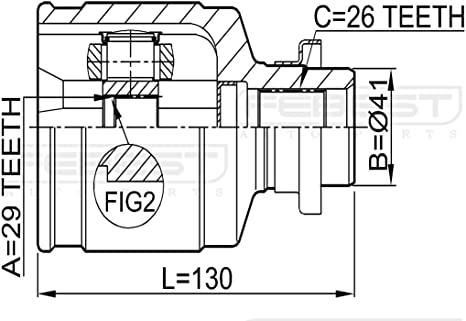 FEBEST 0411-CU204WD Inner CV Joint