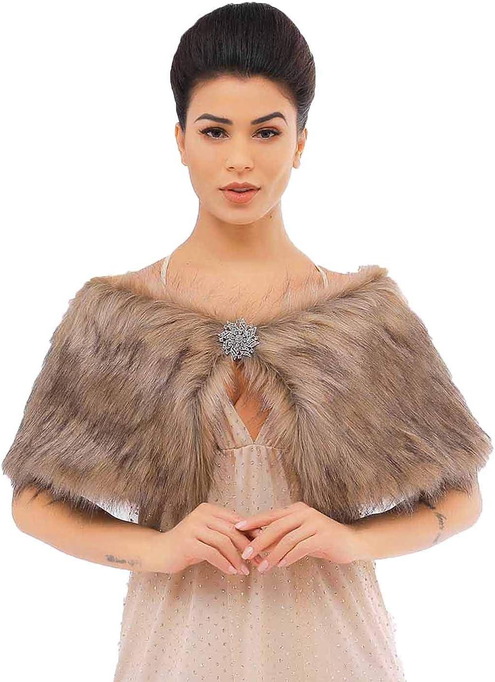 Zoestar Women's Faux Fur...