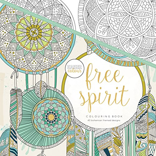 Kaisercraft Kaisercolour Perfect Bound Coloring Book Free Spirit, Acrylic,