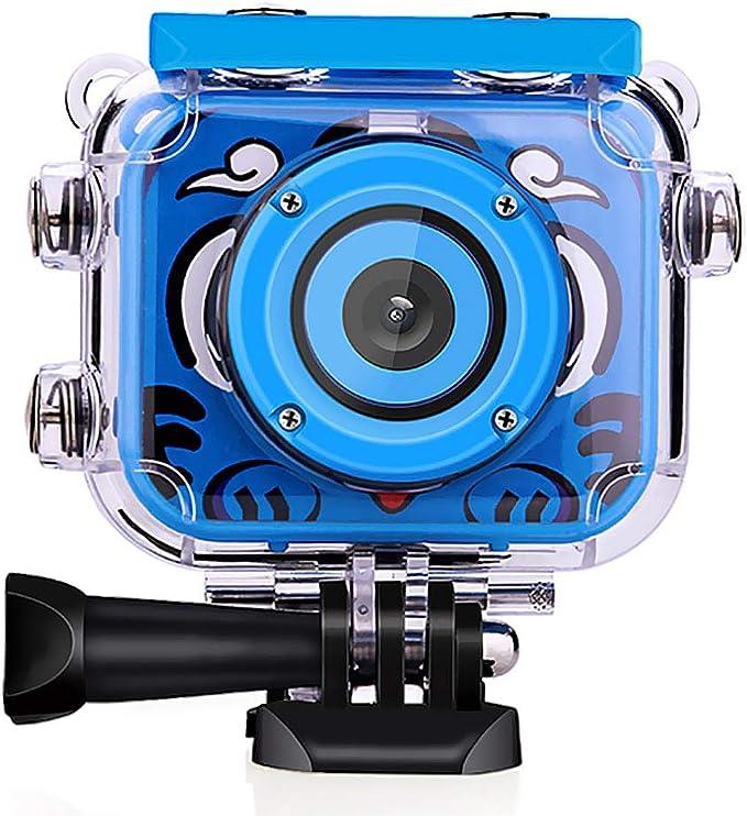 Amazon.es: Wimaha Cámara Digital para niños 1080P HD Videocámara de acción Recargable Video subacuático Festival de cumpleaños a Prueba de Agua Regalo de Juguete para niños Niños Niñas con Pantalla LCD 2.0
