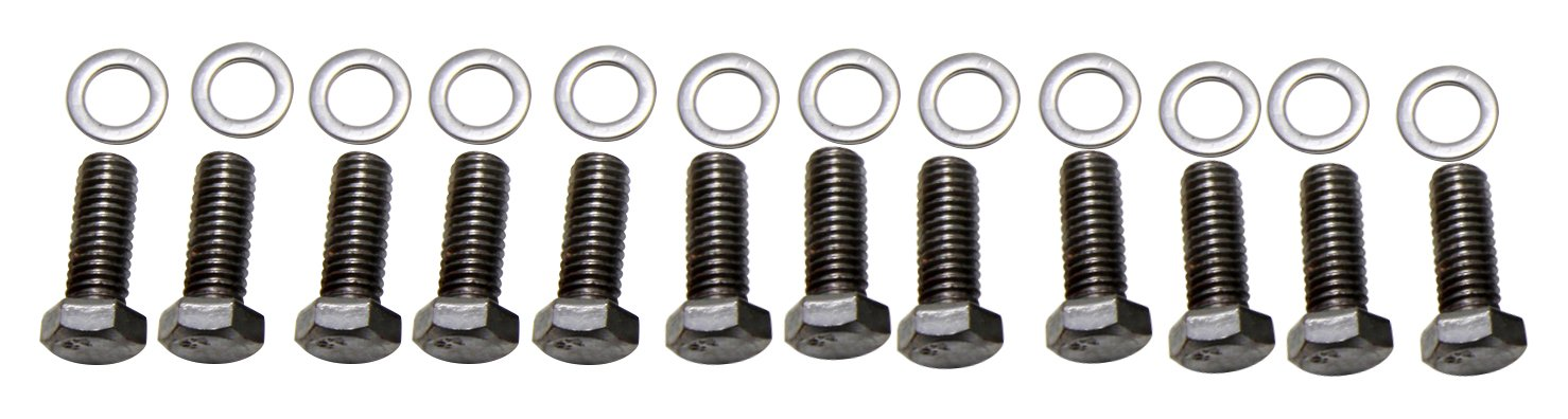 Trans-Dapt 9265 Chrome Hex-Head Intake Manifold Bolts Trans-Dapt Performance