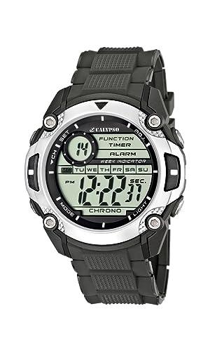 Calypso watches K5577/1 - Reloj hombre digital sumergible, color negro: Amazon.es: Relojes
