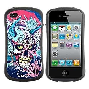 fashion Case for Apple iPhone 5s for kids / Japanese Skull Monster
