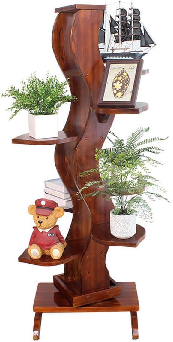 LRW Europäische Blume Rack Wohnzimmer Indoor Holz mehrstöckige Landung Grüne Spitze, Chlorophytum Blume Rack Balkon Einfache Blumentopf Ständer