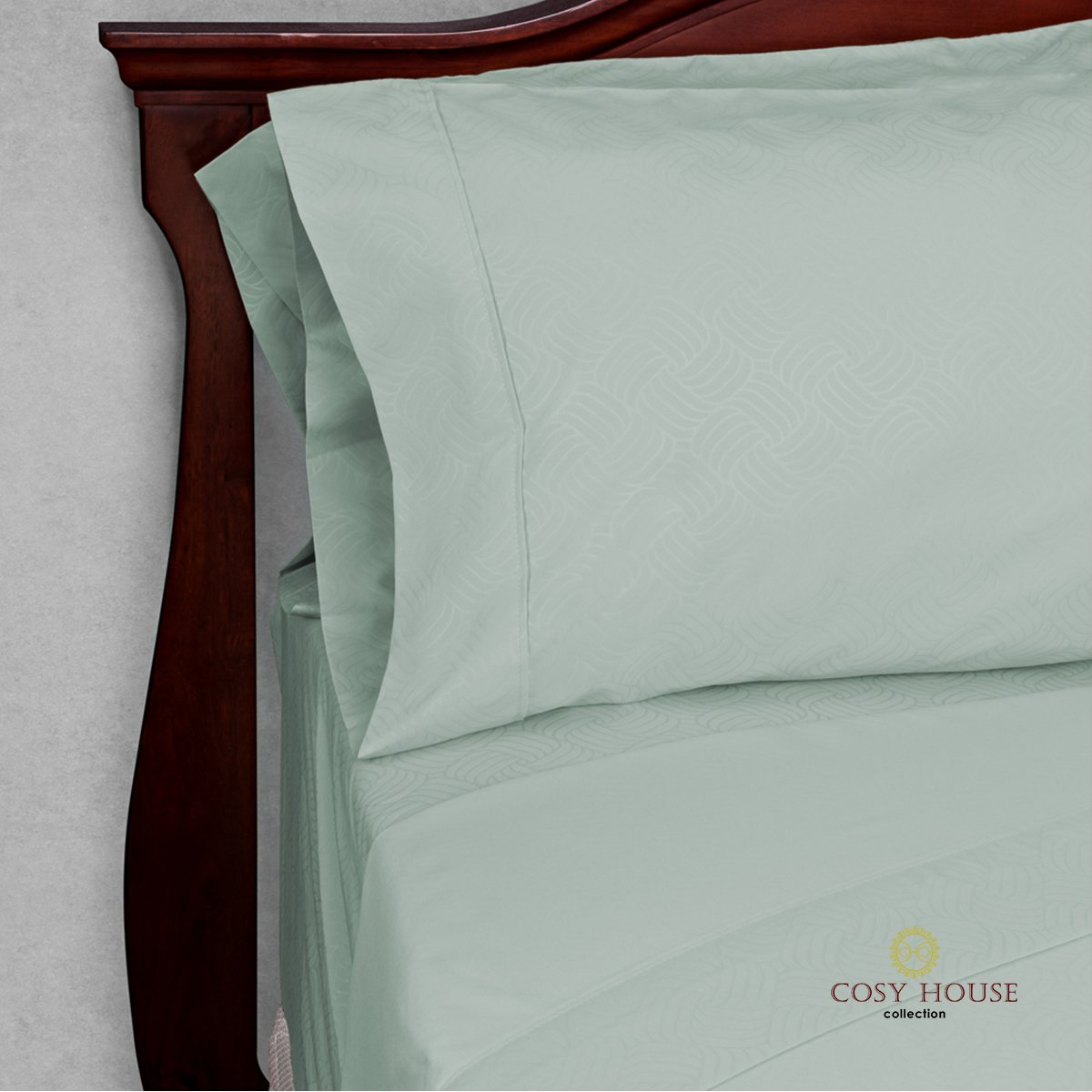 Elegant Bed Sheets - King Size, Teal (Wavy) - Luxury 6 Piece Hotel Bedding Set