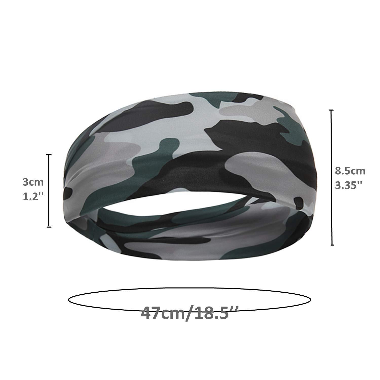 Unisex Running Headbands Sport Yoga Headbands for Women /& Men Moisture Wicking Workout Sweatbands for Fitness Cross Training Gym Exercise Athletic Wrap Bands