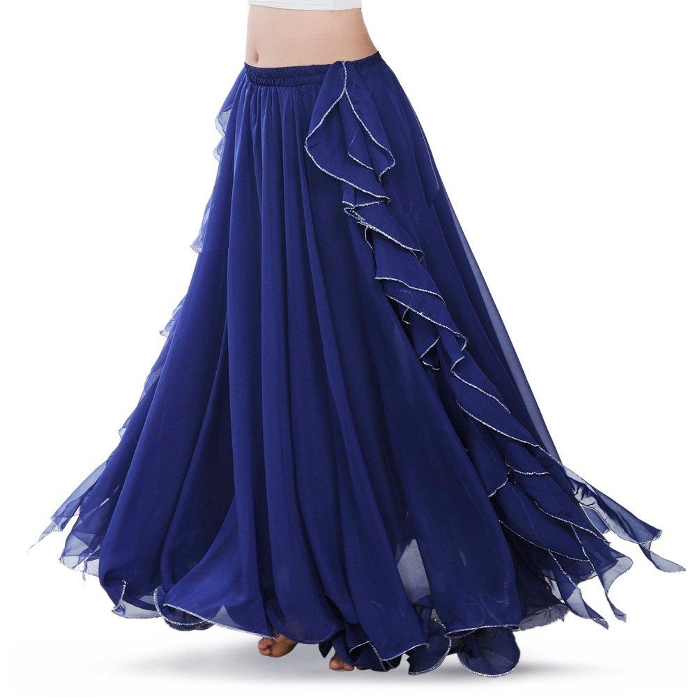 BestDance Belly Dance Professional Skirt Dress Dancer Tribal Costume Side Slit Maxi Long Skirt