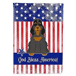 Caroline tesoros del bb3088gf patriótica Estados Unidos Cocker Spaniel negro Tan bandera Tamaño del jardín, pequeño, multicolor