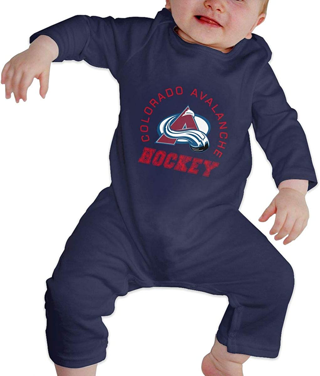 Fuiyi Baby Soft Colorado-Avalanche-Drop-Pass-Synthetic Long Sleeve Cotton Bodysuits