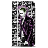 DC Comics Suicide Squad Canvas Checkbook Wallet - Joker and Character Panels in Black and White