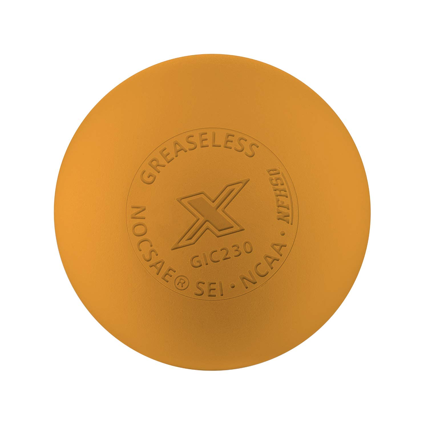 The Pearl by Guardian - Greaseless Lacrosse Balls (Orange, 3 Pack)