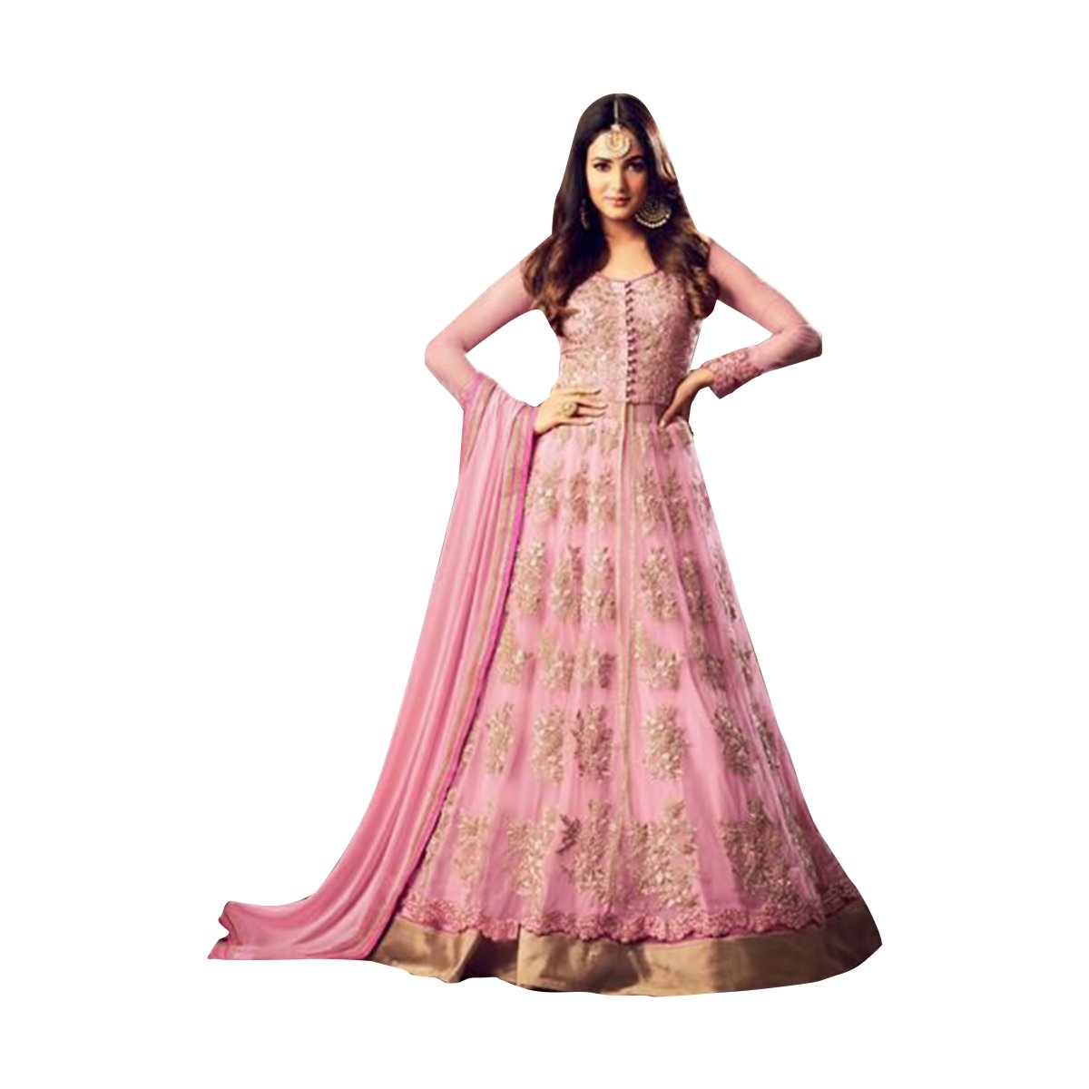 BOLLYWOOD DESIGNER NEW LAUNCH ANARKALI SALWAR KAMEEZ GOWN LONG HEAVY WEDDING CEREMONY PARTY WEAR BY ETHNIC EMPORIUM