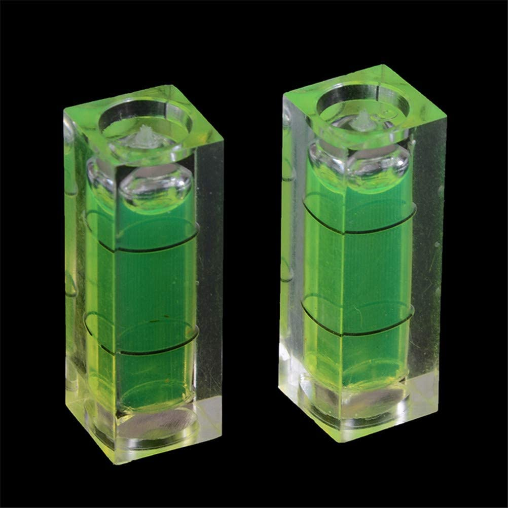 6Pcs//Set Small Bubble Level Frame Mural Hanging 10x10x29mm Mini Square Spirit Level Picture Hanging Levels Mark Measuring Instruments Layout Tools