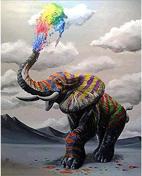 HQHff Tinte de Spray de Elefante a Rayas de Color,Puzzles ...