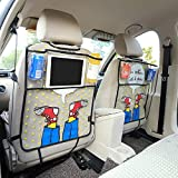DeemoShop Catoon Shoes Styling Car Back Seat Protector Environmental Kicking Mat Seat Covers Storage Bag Organizer For Ipad 4 Air Pro Mini