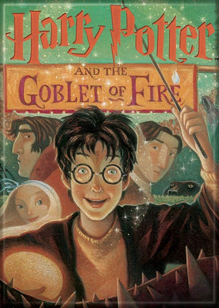 """Ata-Boy Harry Potter and The Goblet of Fire Book Cover 2.5"""" x 3.5"""" Magnet for Refrigerators and Lockers"""