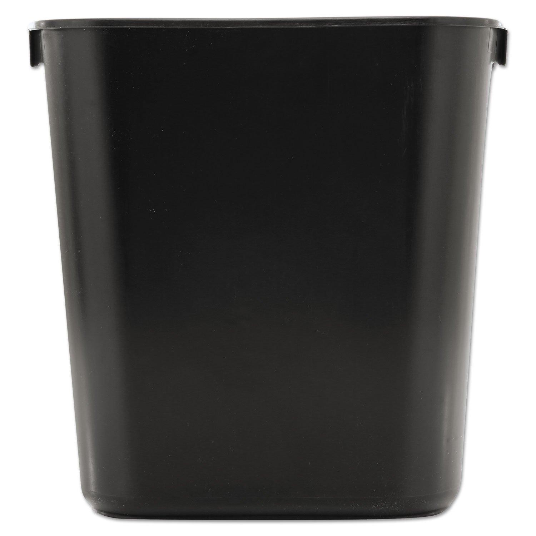 Rubbermaid 295500BK Deskside Plastic Wastebasket, Rectangular, 3 1/2 gal, Black by Rubbermaid Commercial (Image #1)