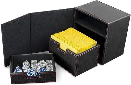 Card Supplies Deck Vault LX - Caja para cartas (100 unidades), color negro: Amazon.es: Juguetes y juegos